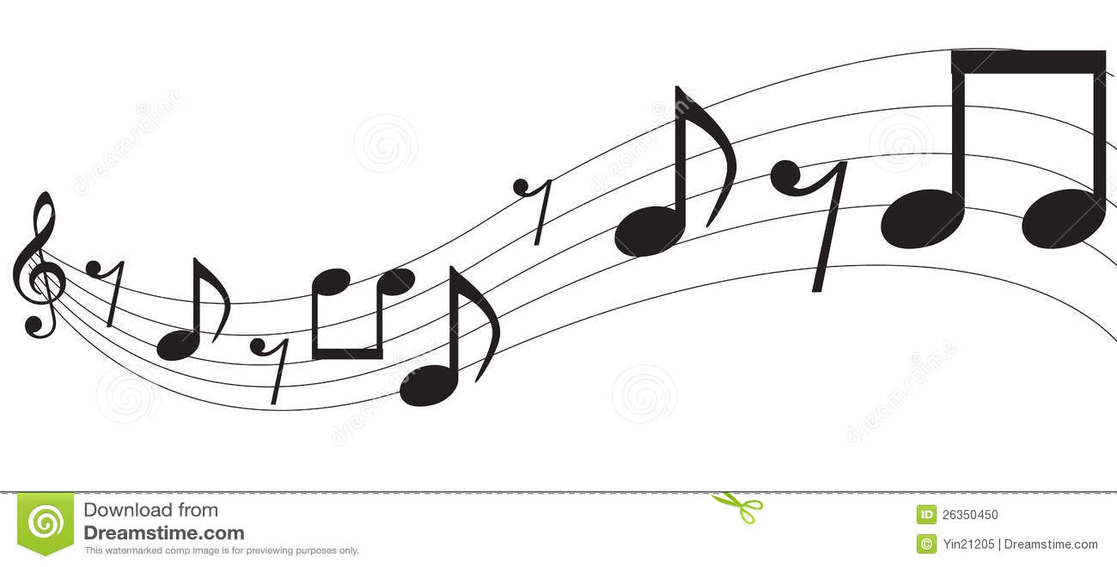 Notas de la música