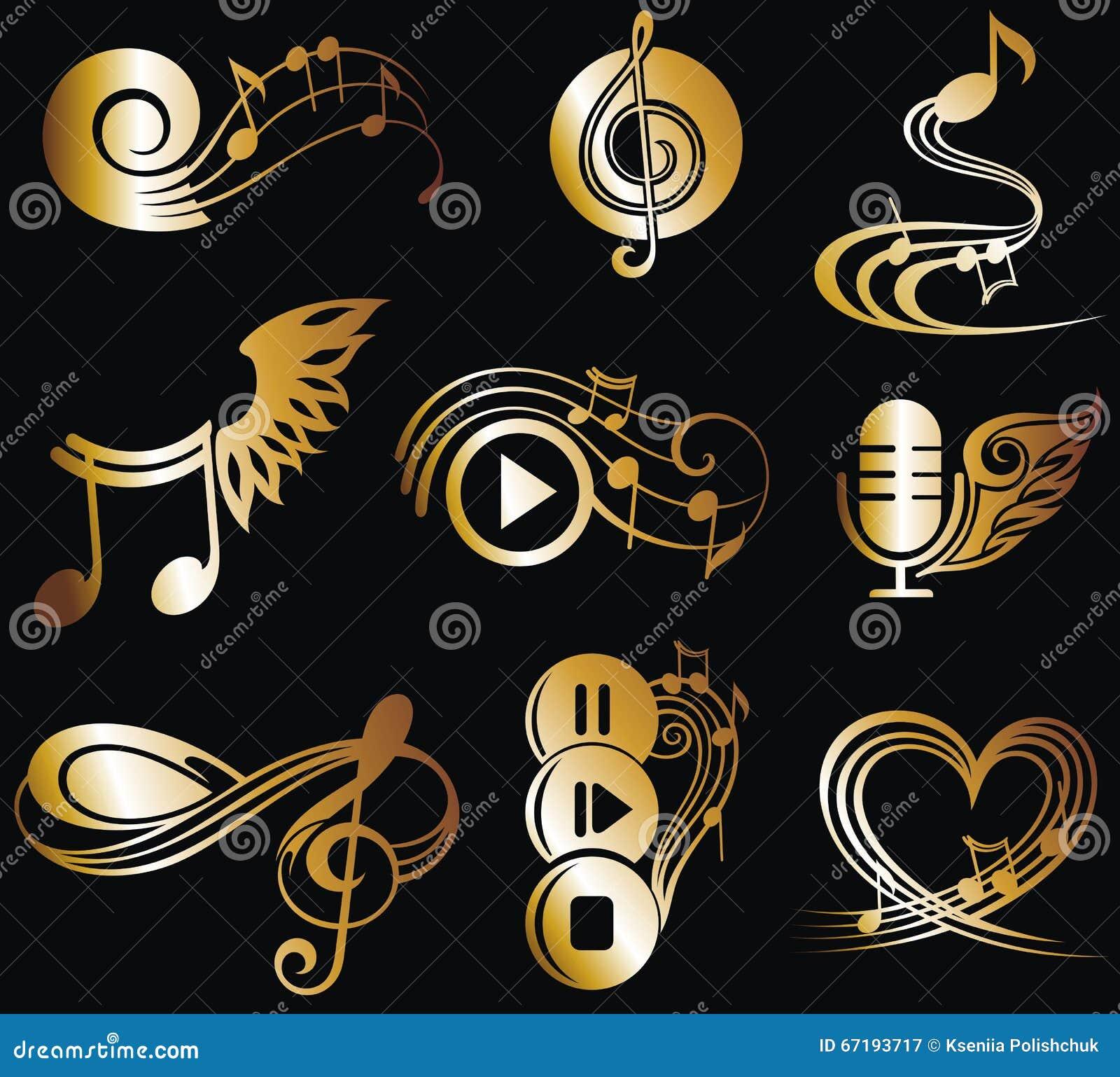 Notas de la música fijadas