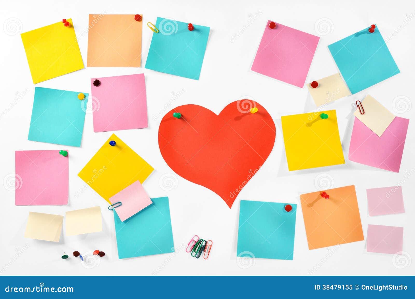 Notas de papel coloridas en blanco m ltiples materiales for Papel para oficina