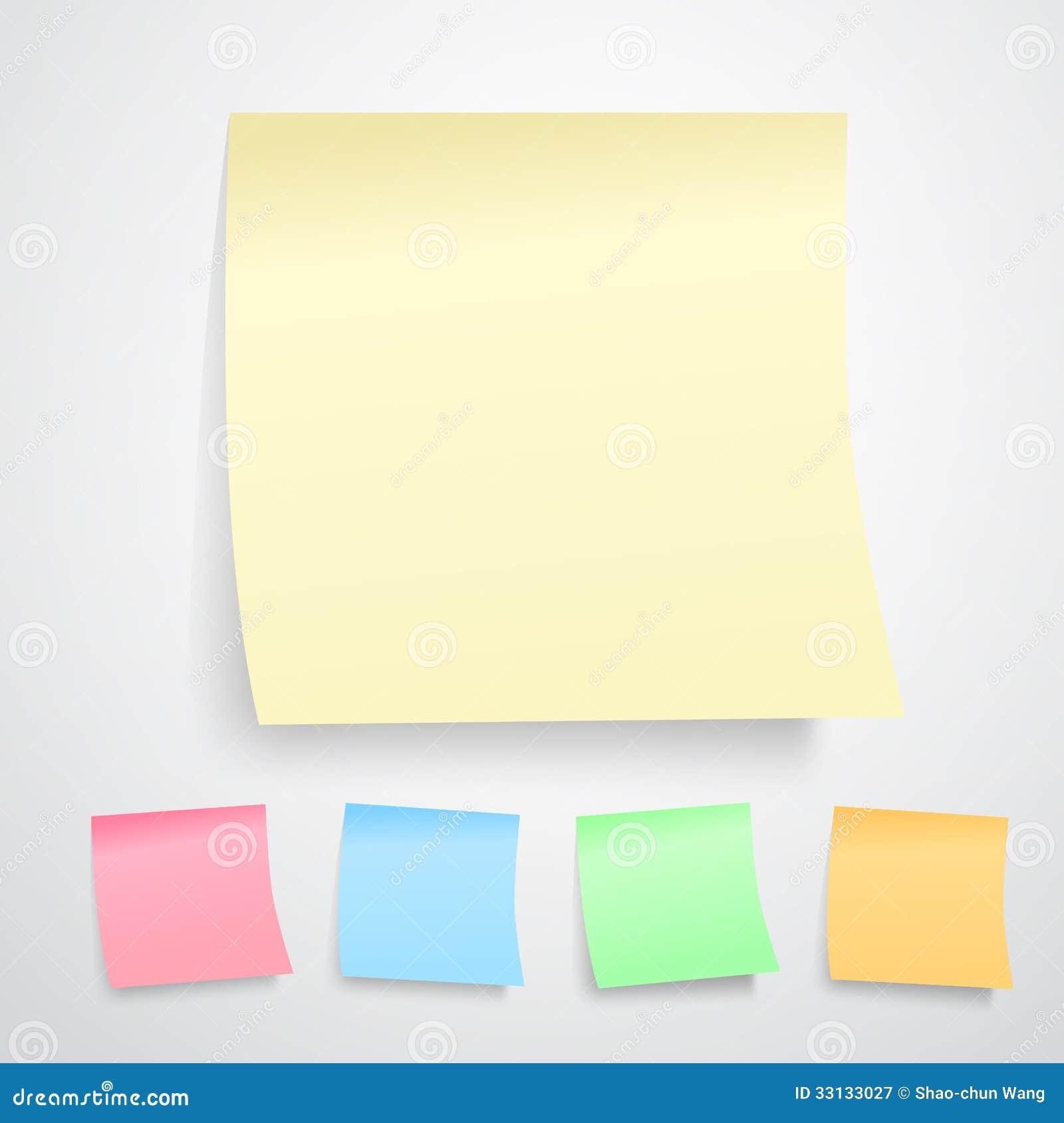 Notas de post-it amarelas