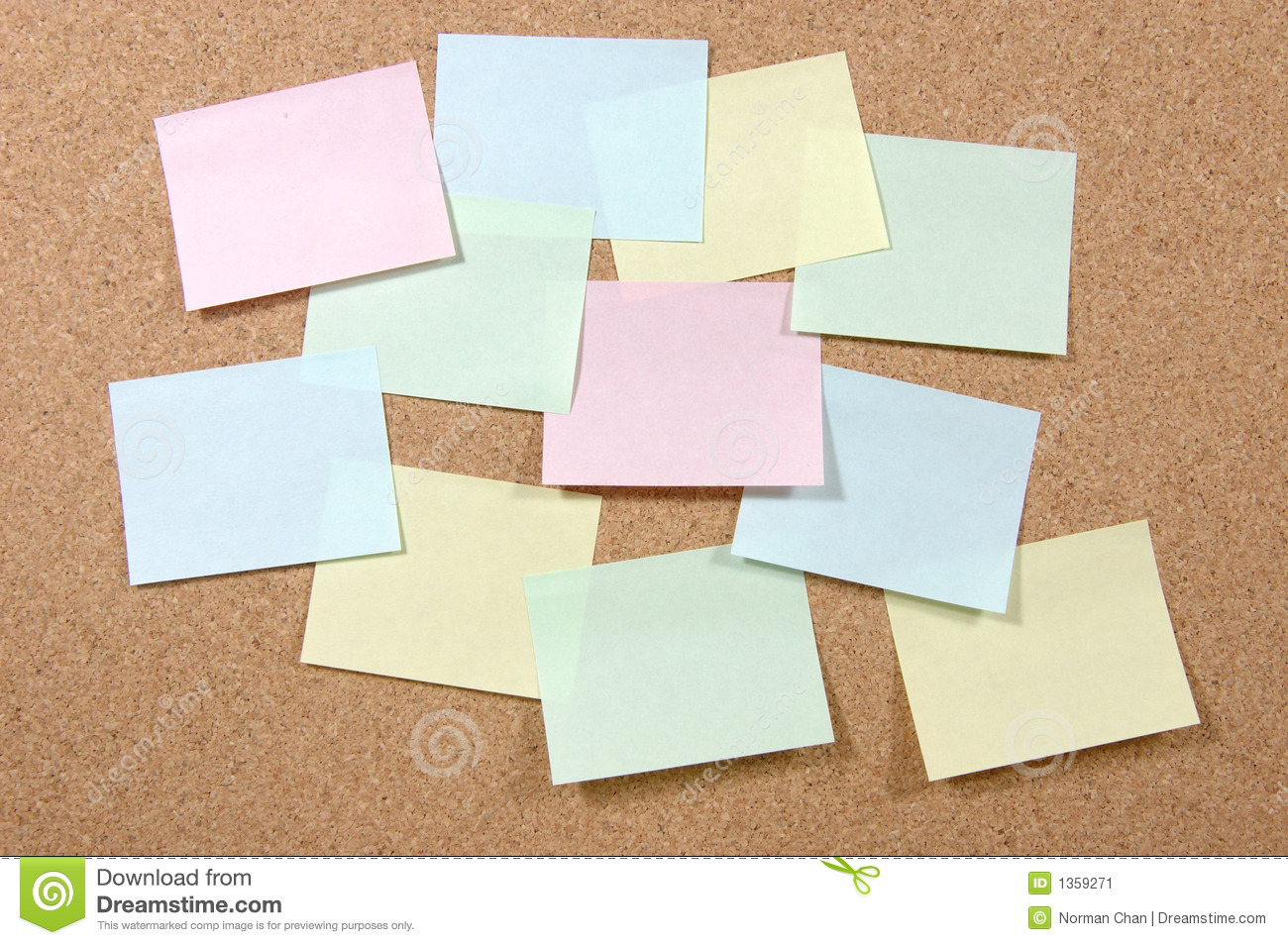 Notas de post-it coloridas