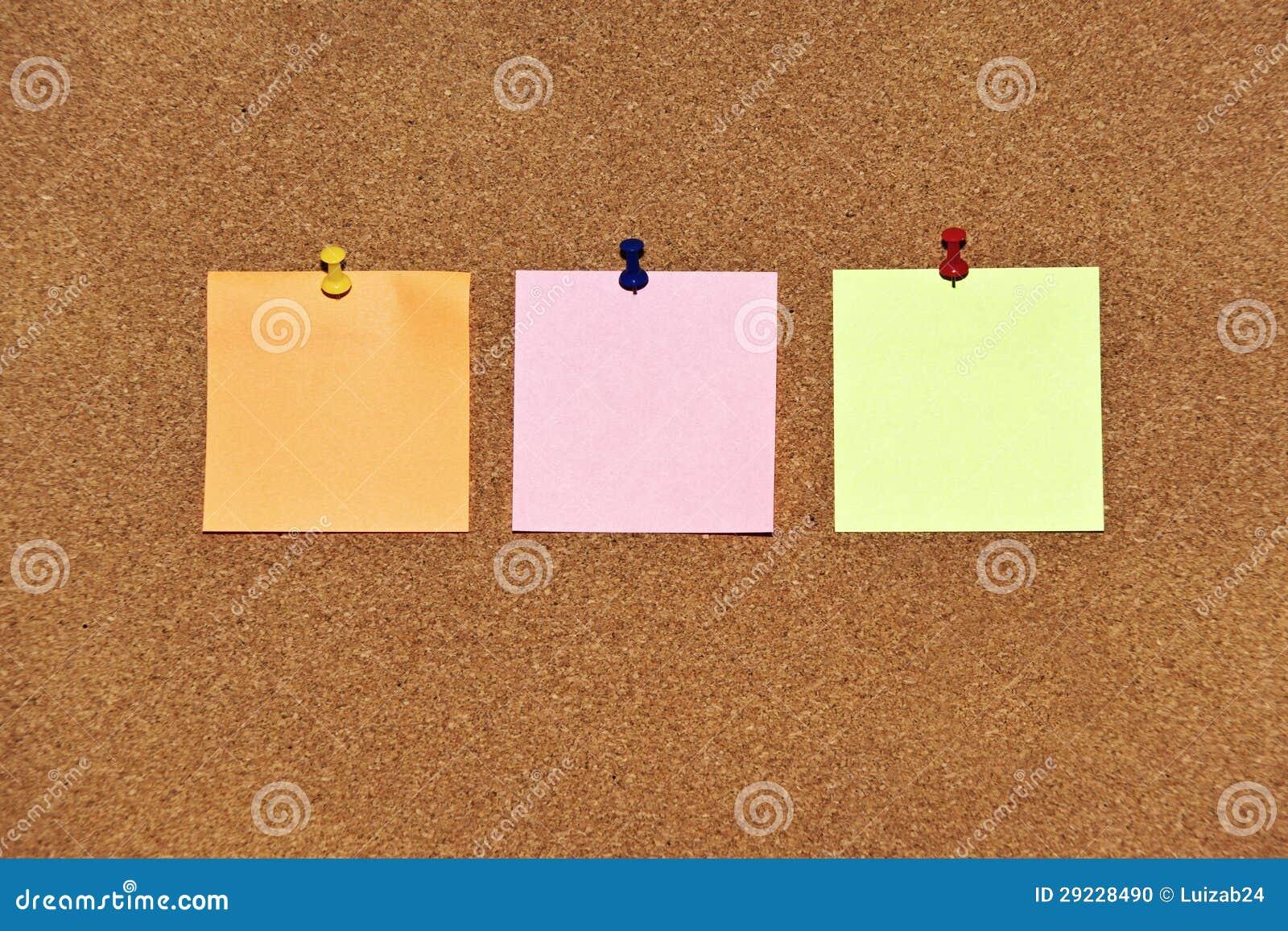 Download Notas de post-it coloridos foto de stock. Imagem de trabalho - 29228490