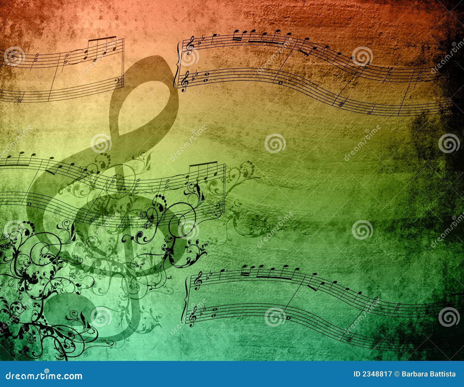 Notas decorativas da música