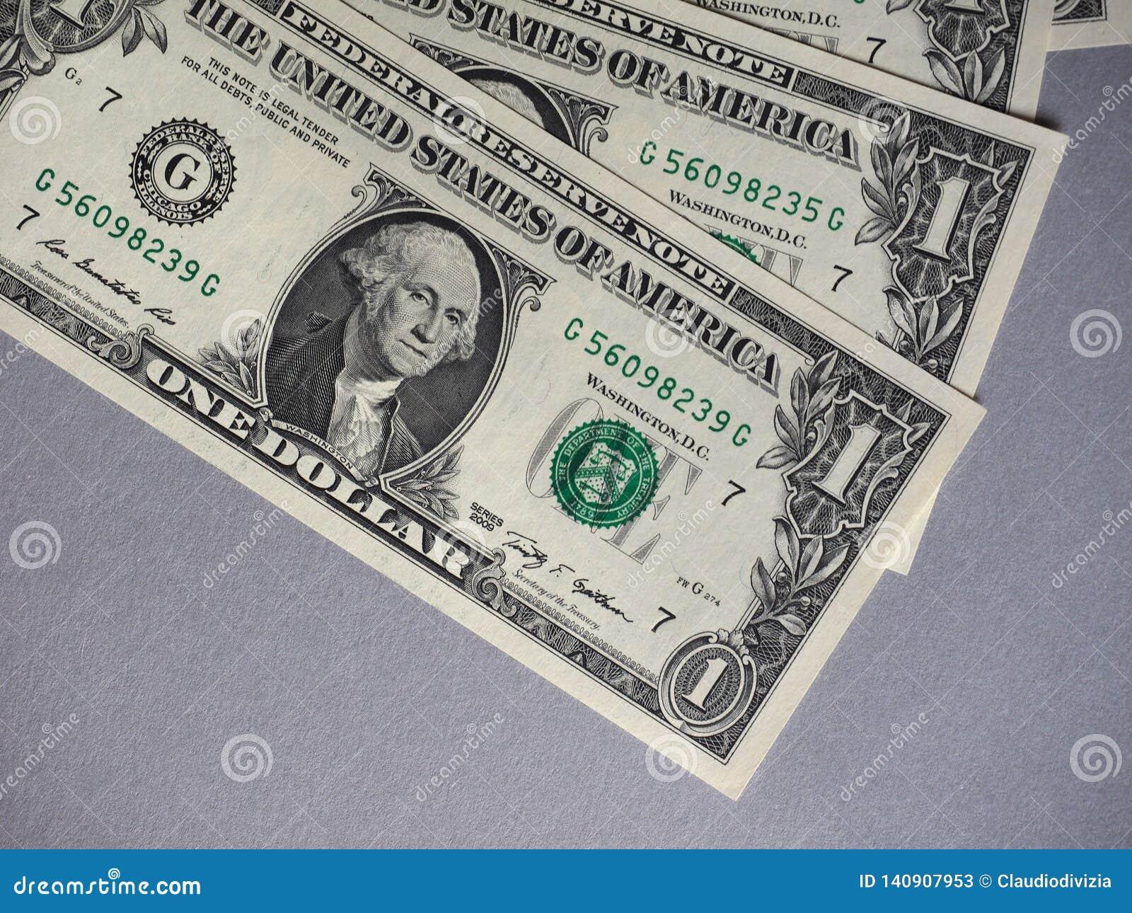 Notas do dólar, Estados Unidos