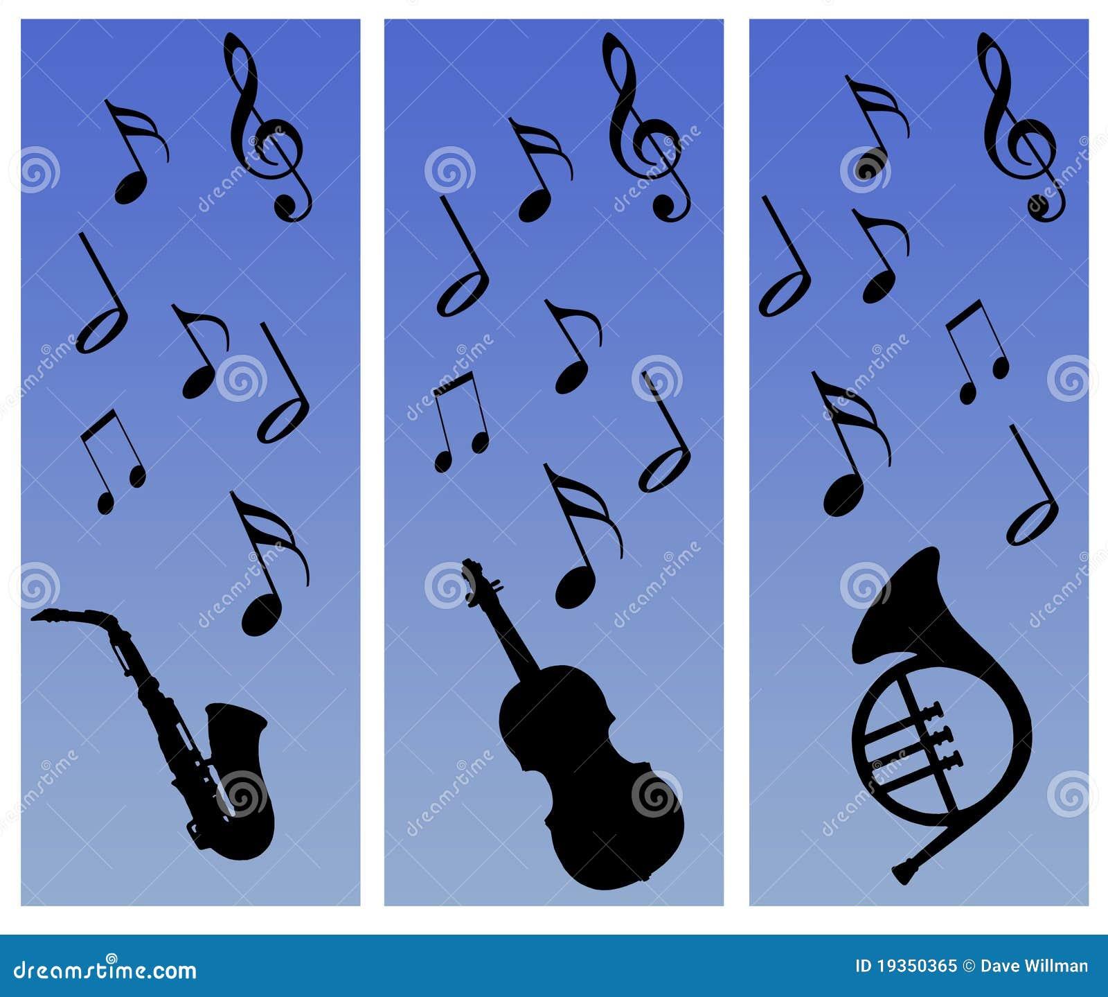 Notas e colagem dos instrumentos
