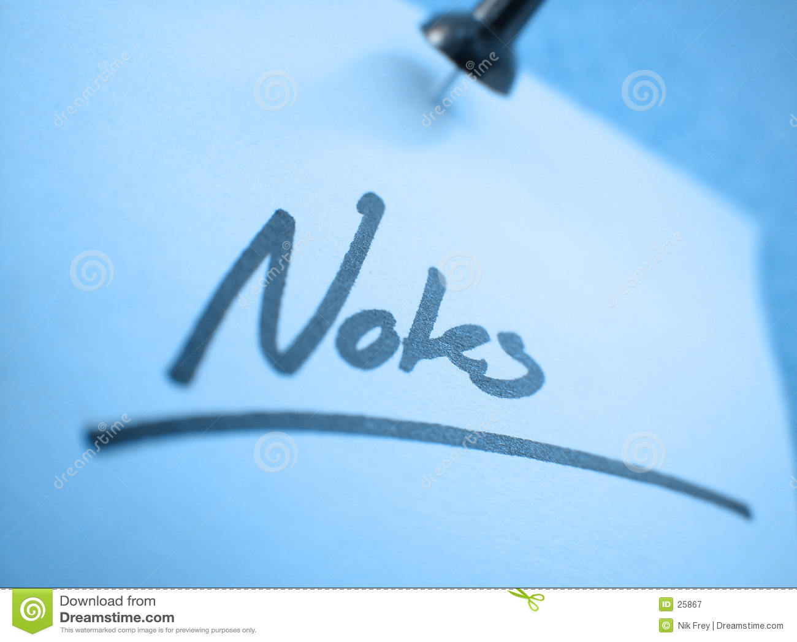Download Notas? I imagen de archivo. Imagen de contacto, papel, oficina - 25867