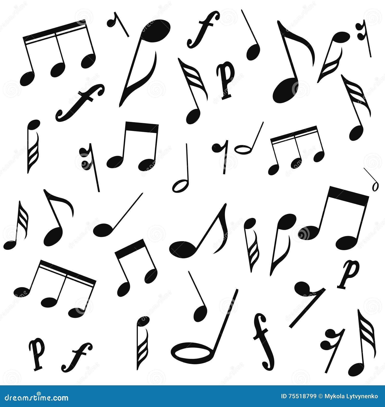 Notas Musicais Clave De Sol Vetor Em Um Fundo Branco Ilustração