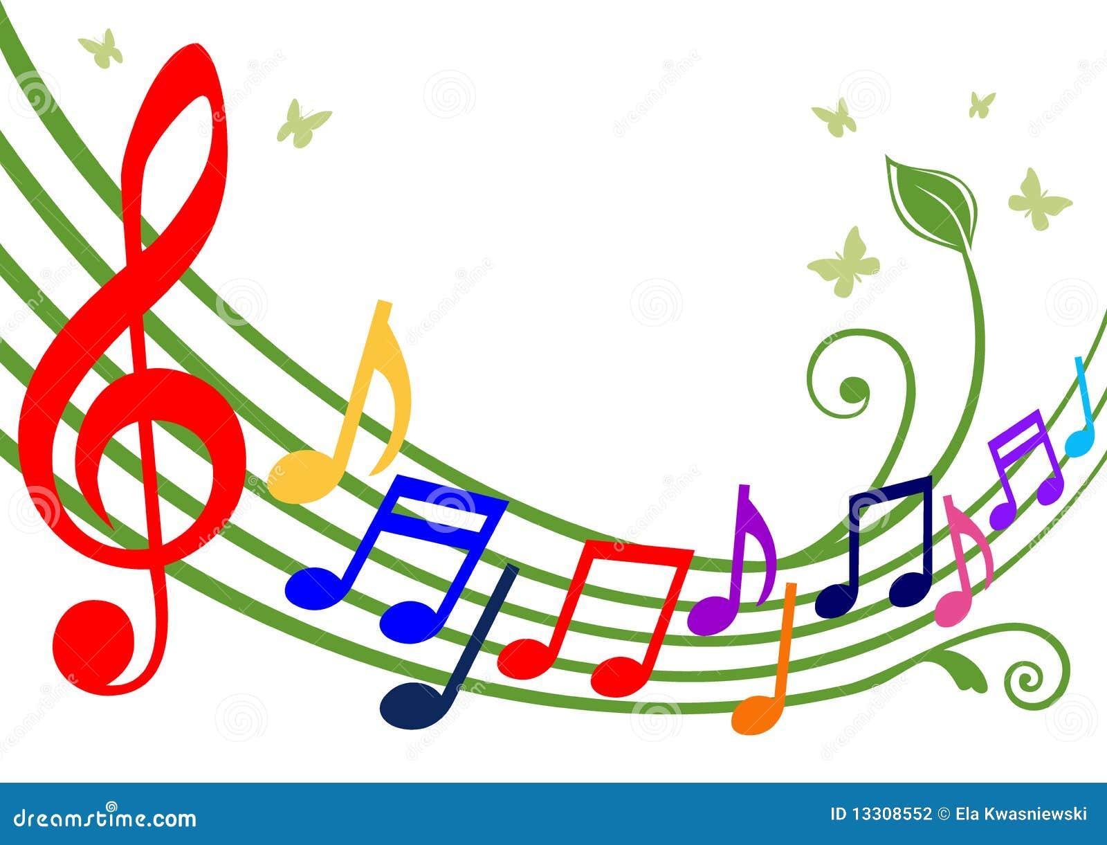 Notas Musicais Coloridas Fotografia de Stock  Imagem 13308552