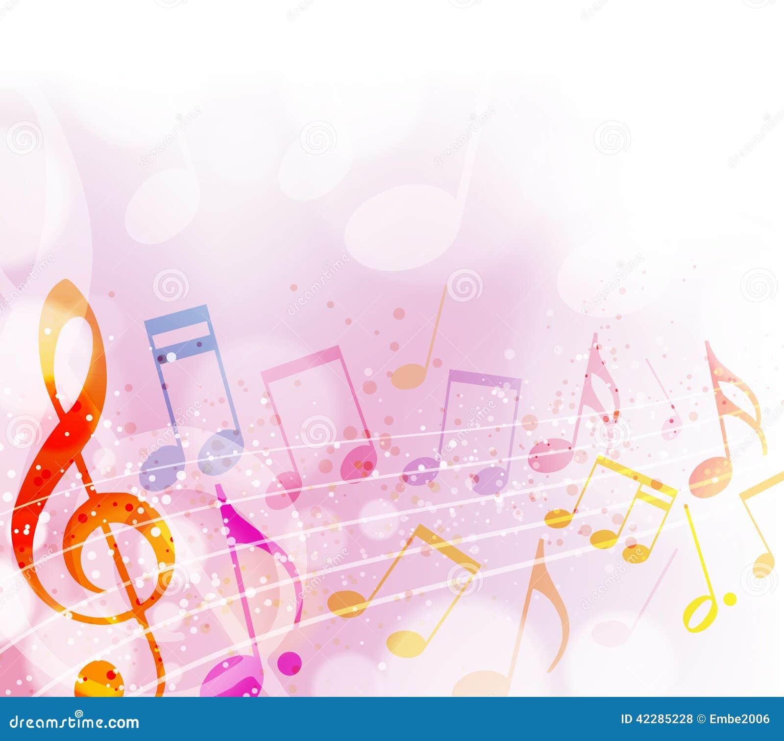 Notas musicales ilustración del vector. Imagen de nota
