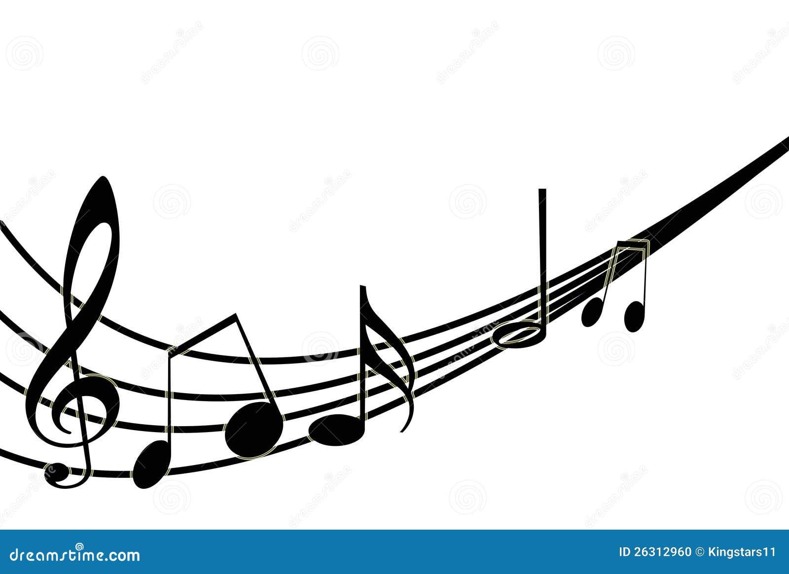 Foto Nota Musical ~ Notas Musicales Sobre Blanco Ilustración Del Vector Foto de archivo Imagen 26312960