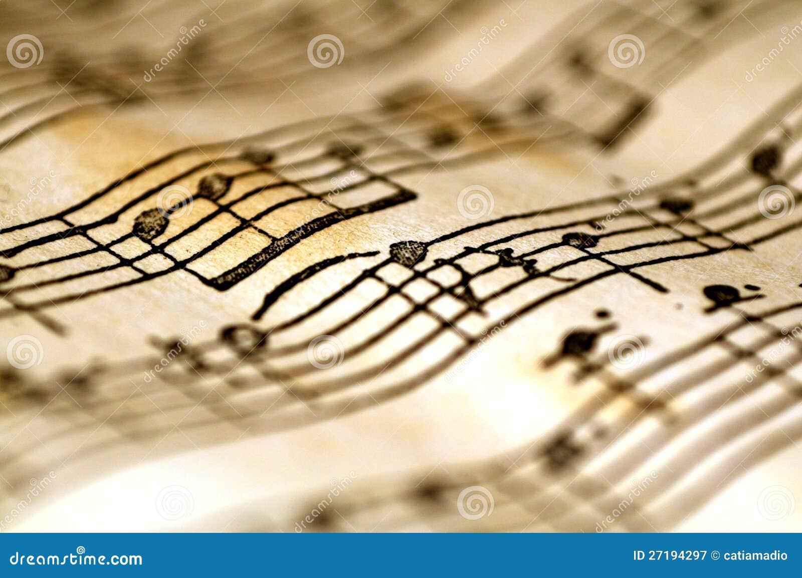 Notas onduladas da música