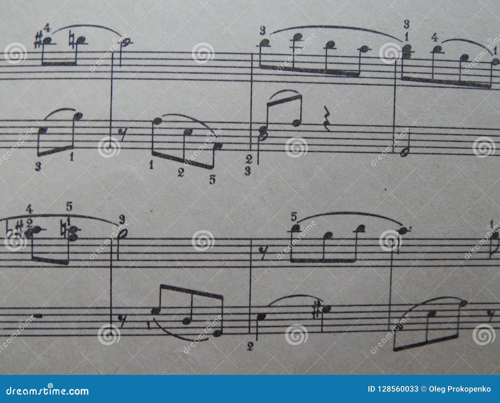 Notas para o solfeggio das lições de música