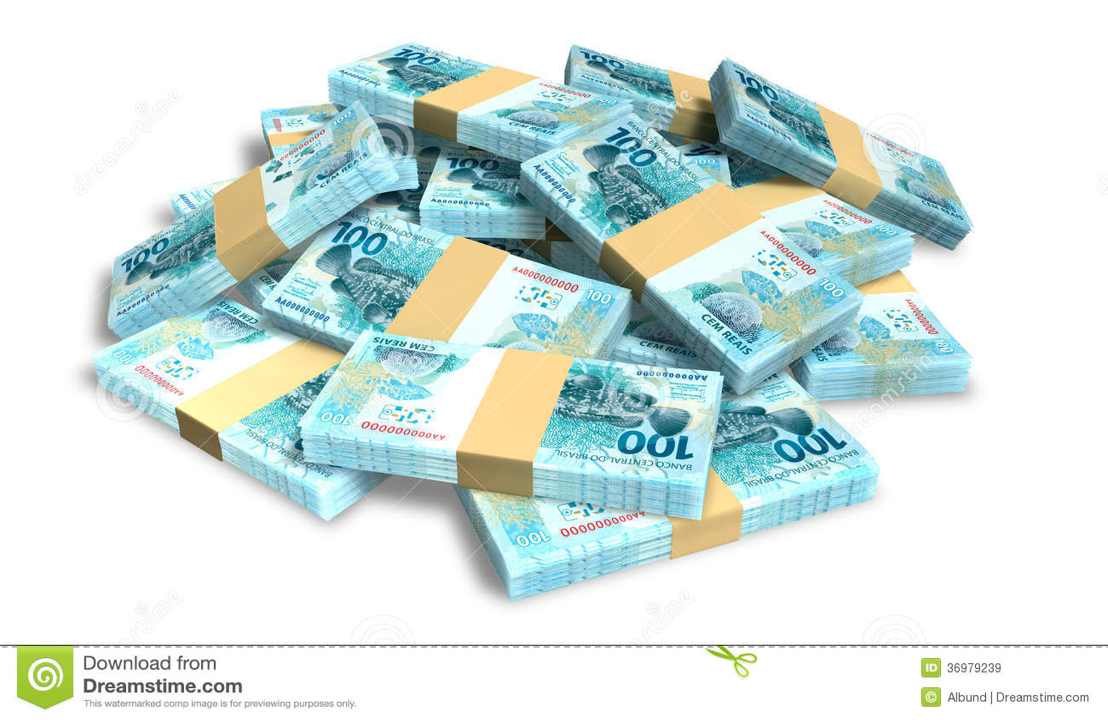 Notas Reais Pilha Dispersada Imagens de Stock Royalty Free ...