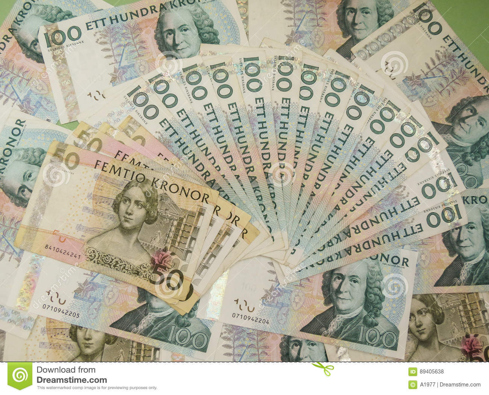 Notas suecos da moeda