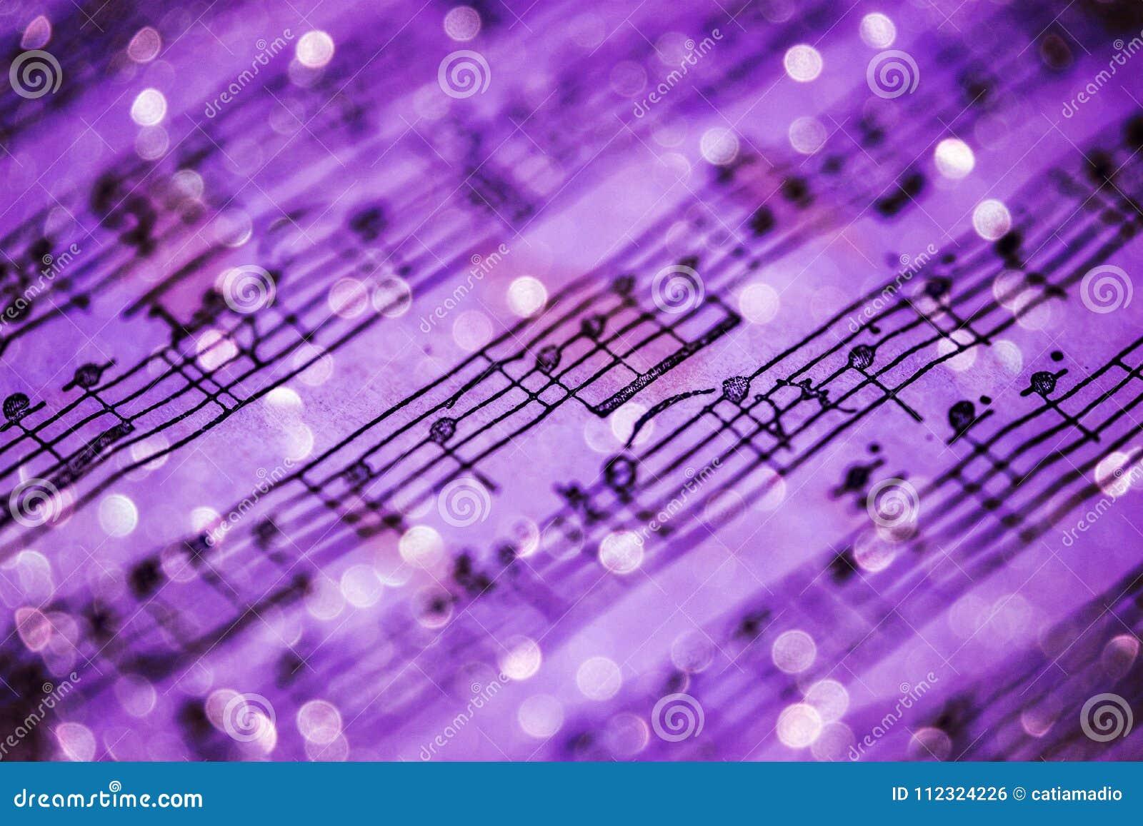 Notas violetas da música