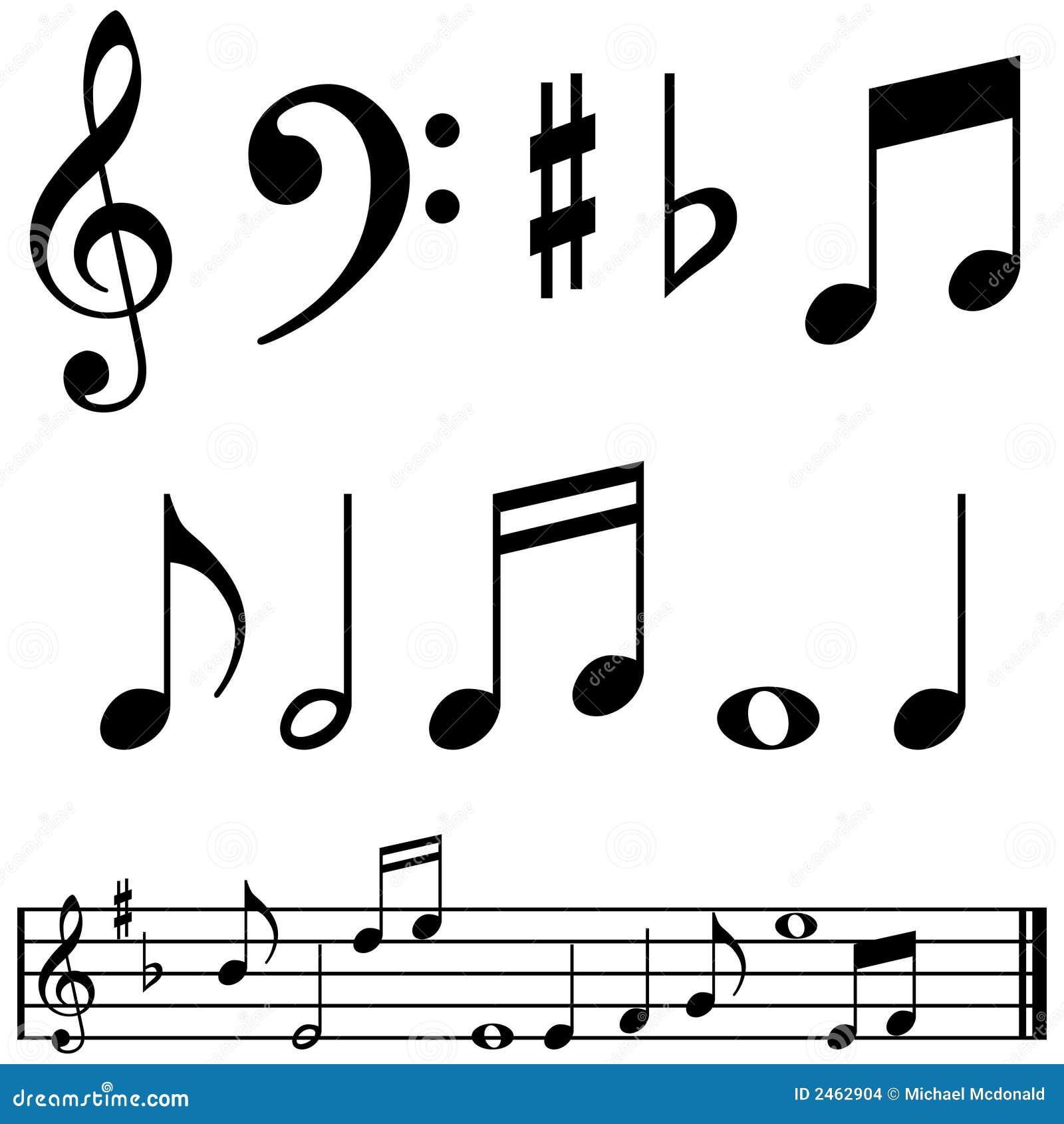 Notas Y Símbolos De La Música Ilustración Del Vector Ilustración
