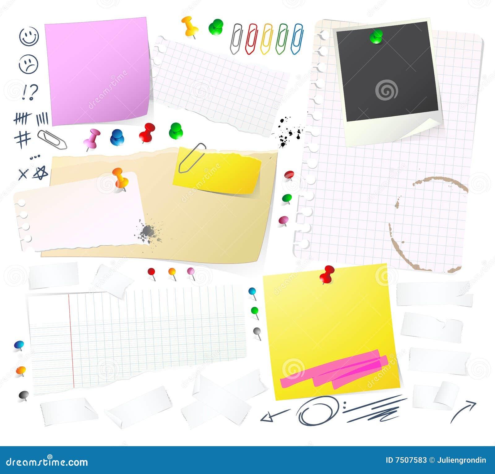 Notatek papierów thumbtack