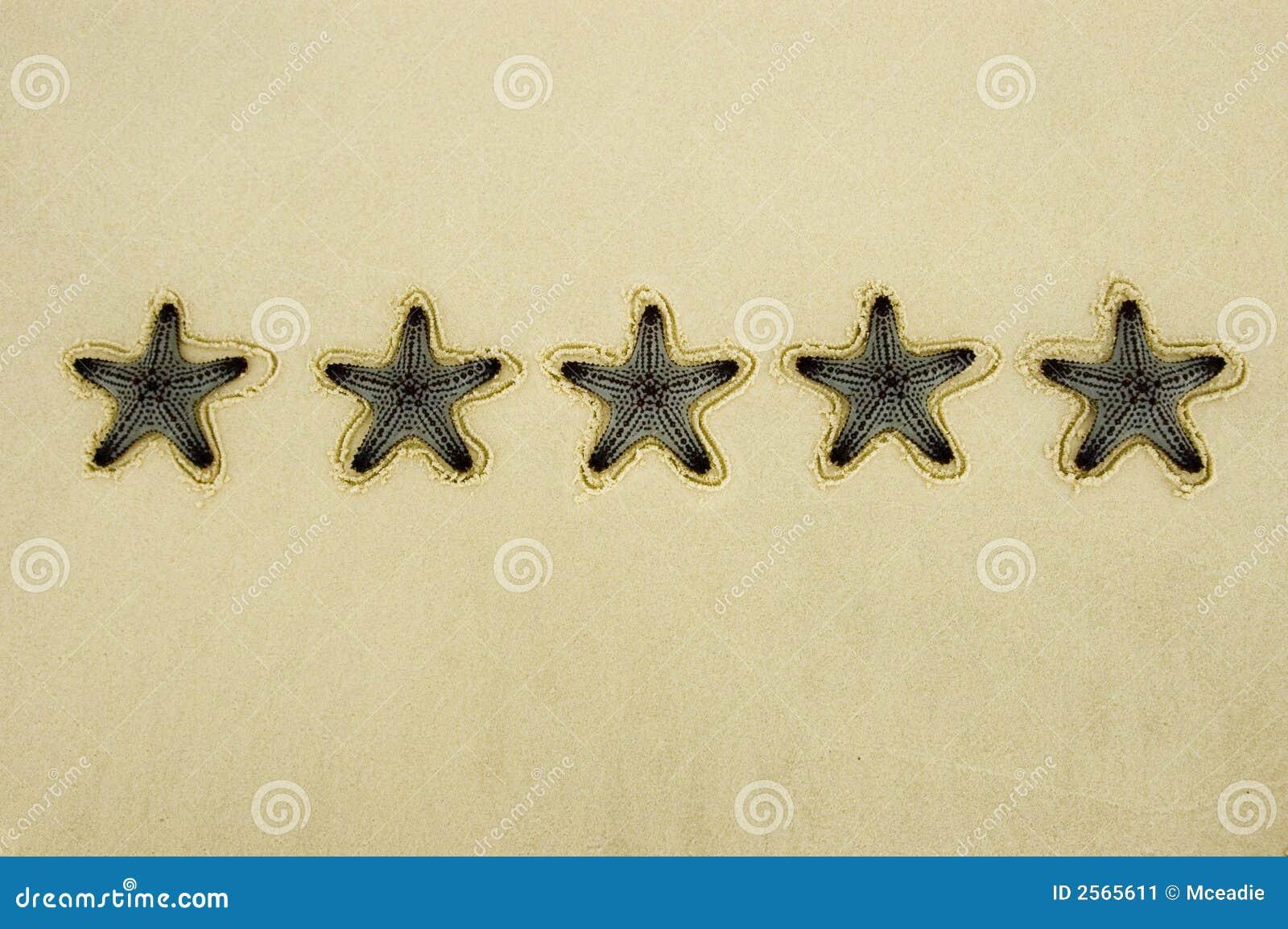 Notation de cinq étoiles