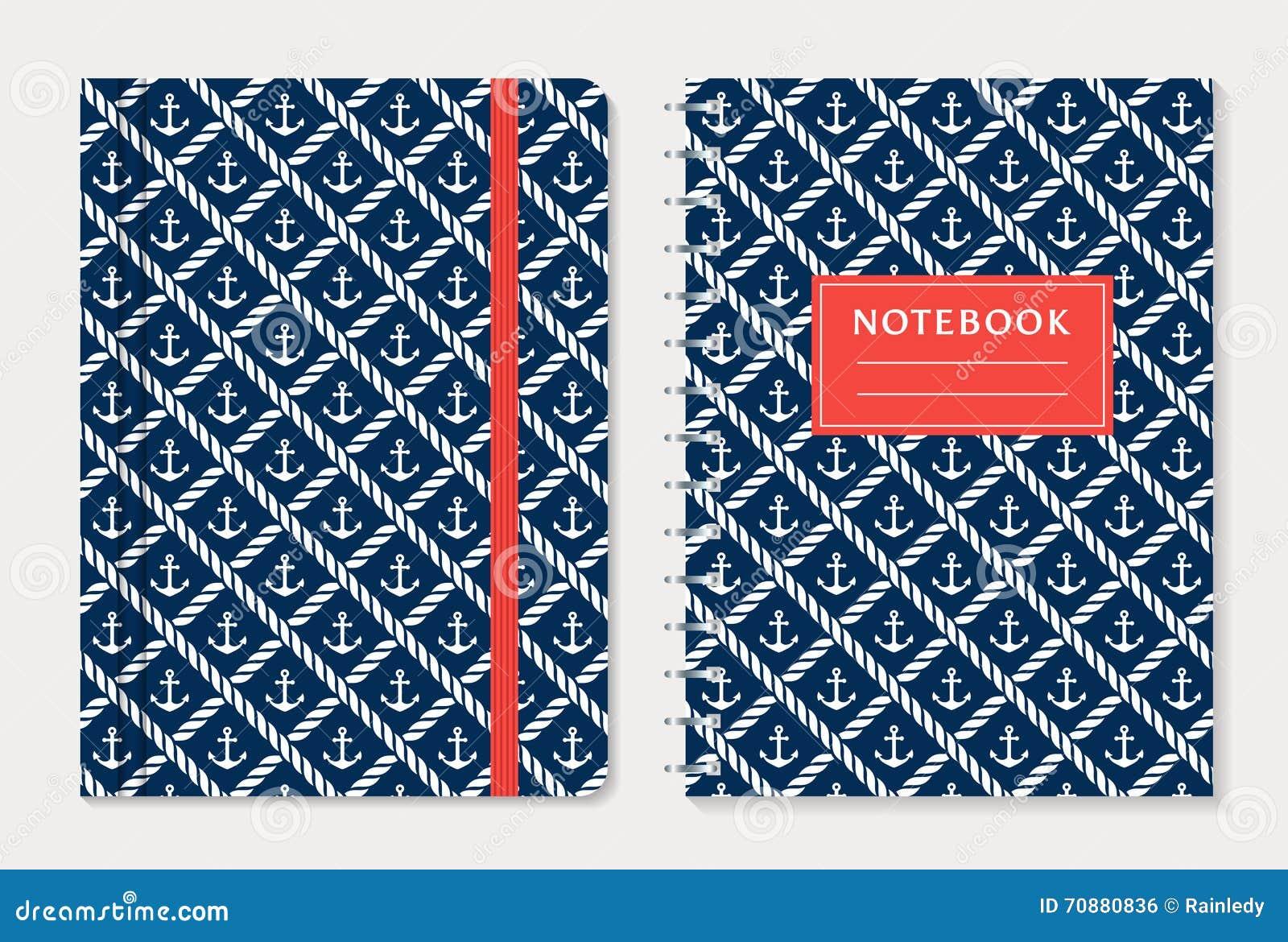 Notatnik pokrywy projekt kreskówki serc biegunowy setu wektor