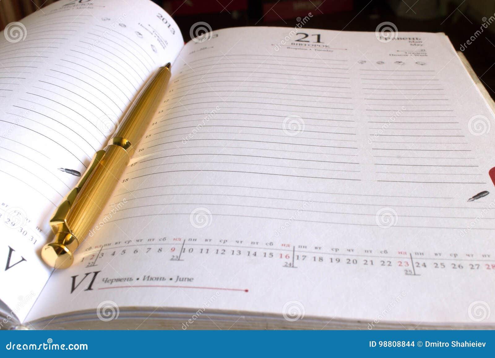 Notatnika złoty pióro