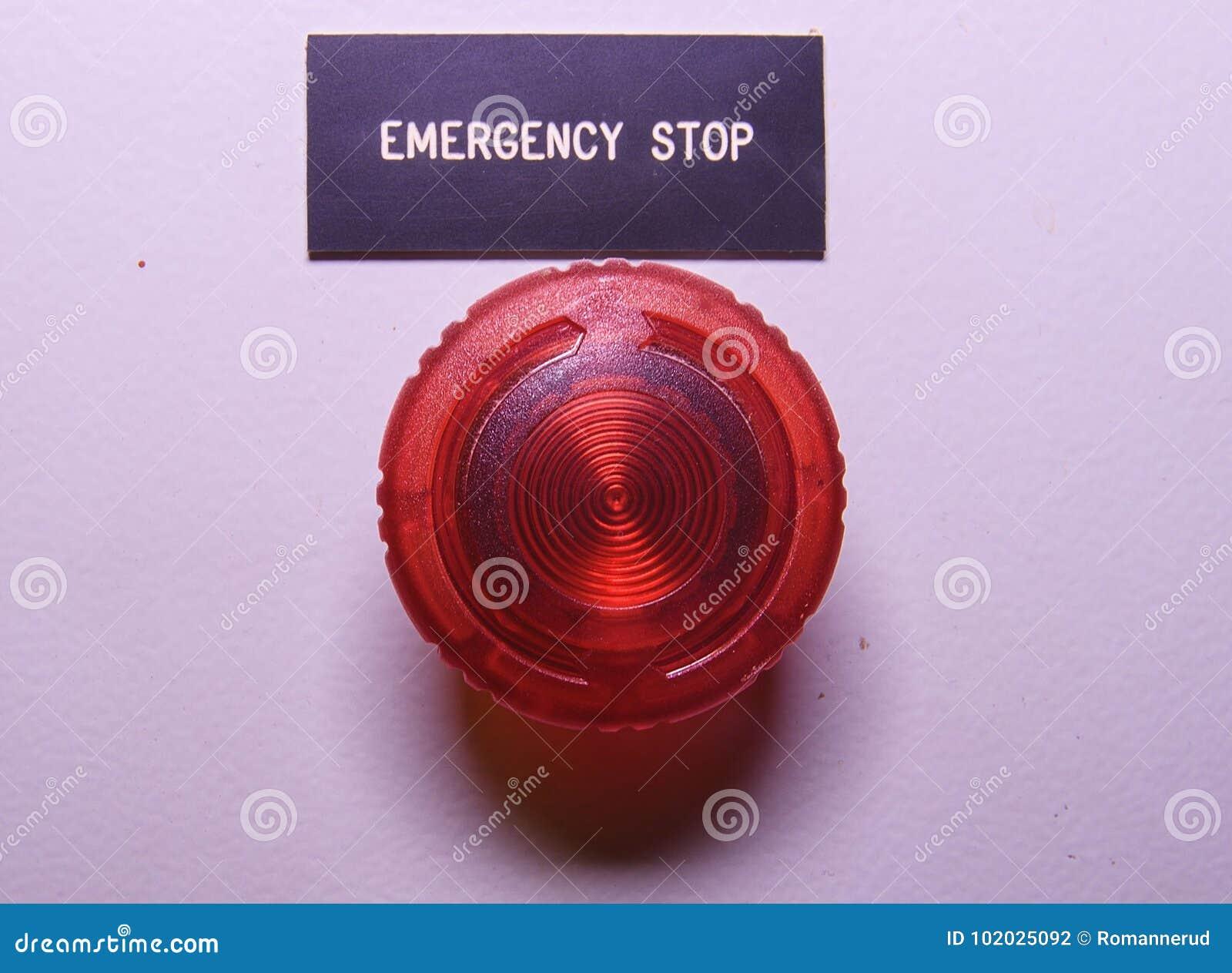 Notaus Notknopf Roter Elektrischer Knopf Stockfoto - Bild von ...