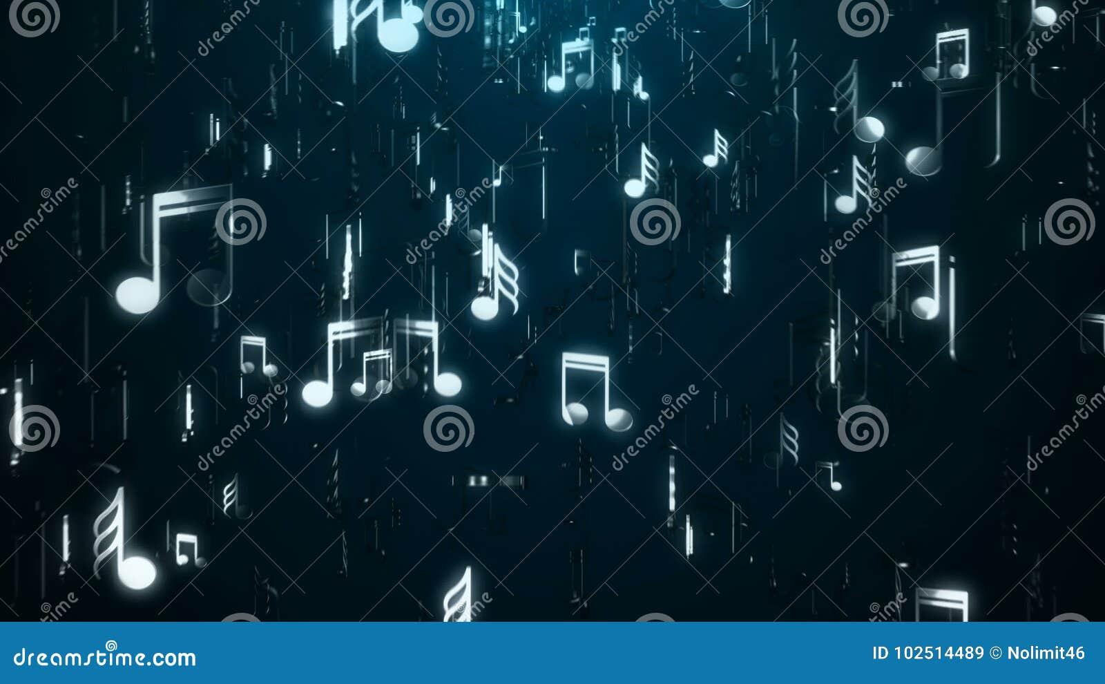 Note bianche di musica sottragga la priorità bassa Illustrazione di Digital