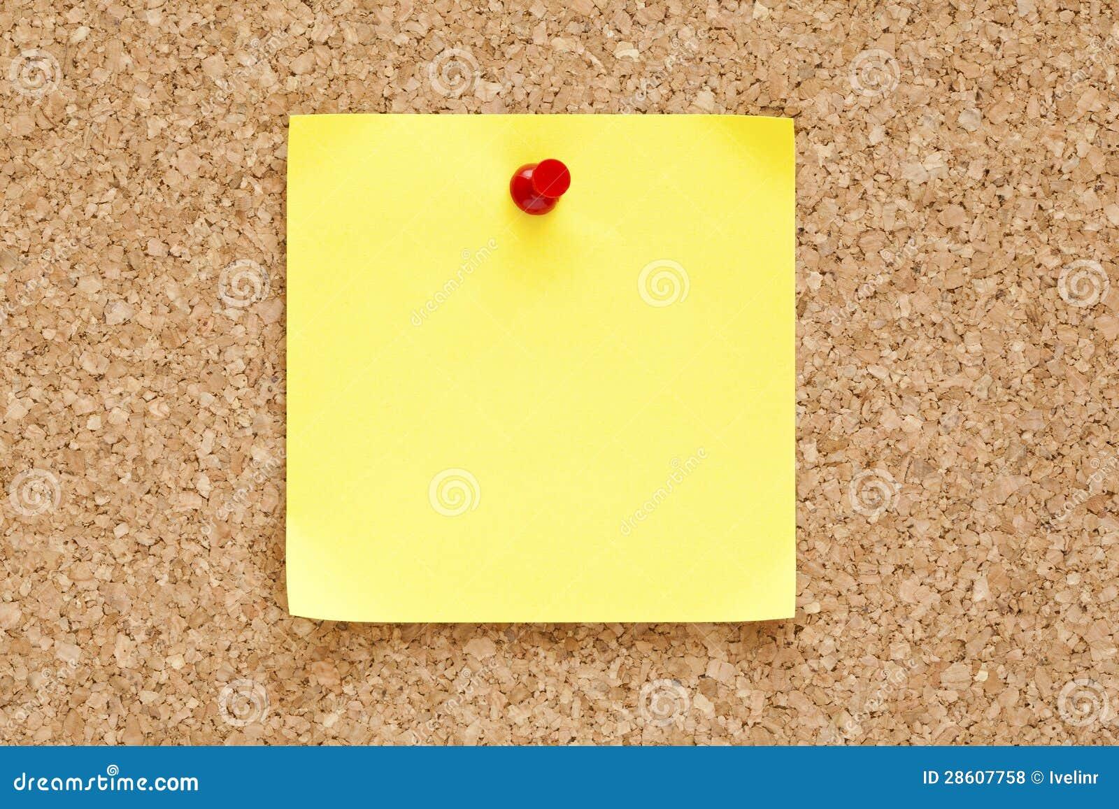 Note collante jaune blanc