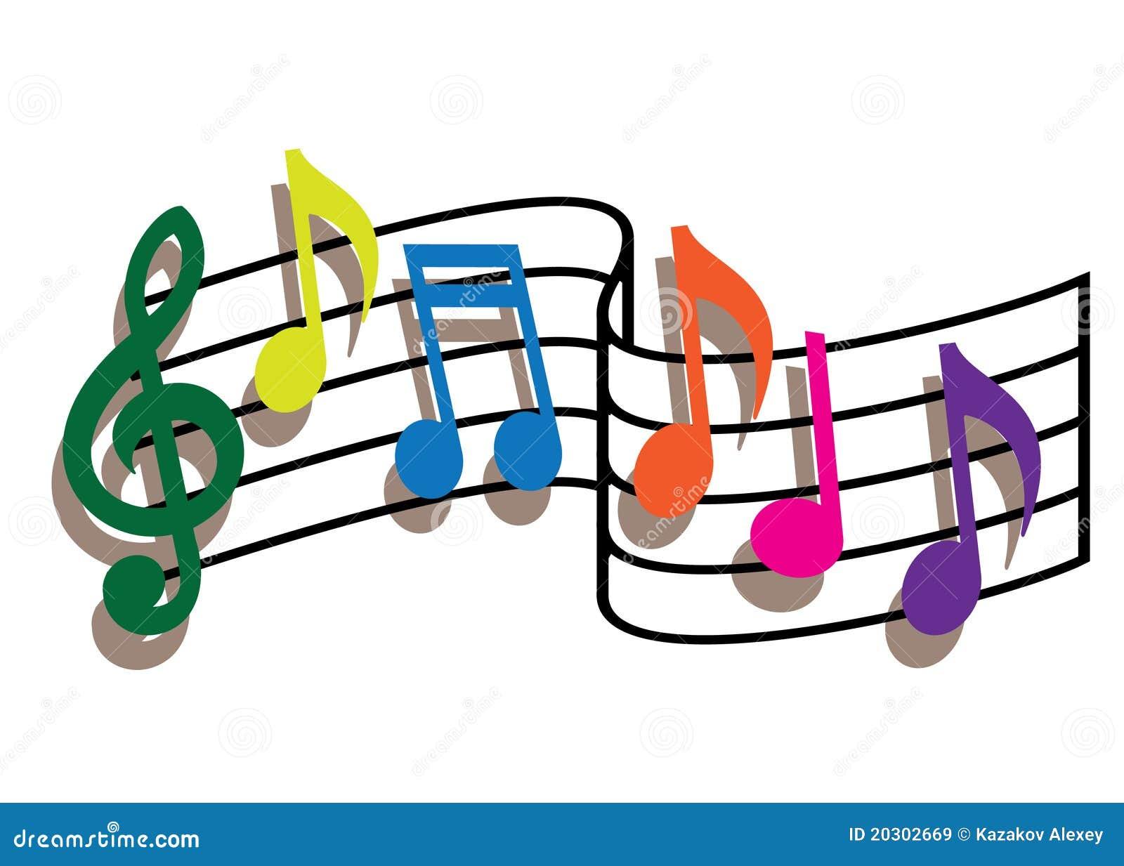 Note Colorate Di Musica Immagini Stock Libere da Diritti - Immagine ...