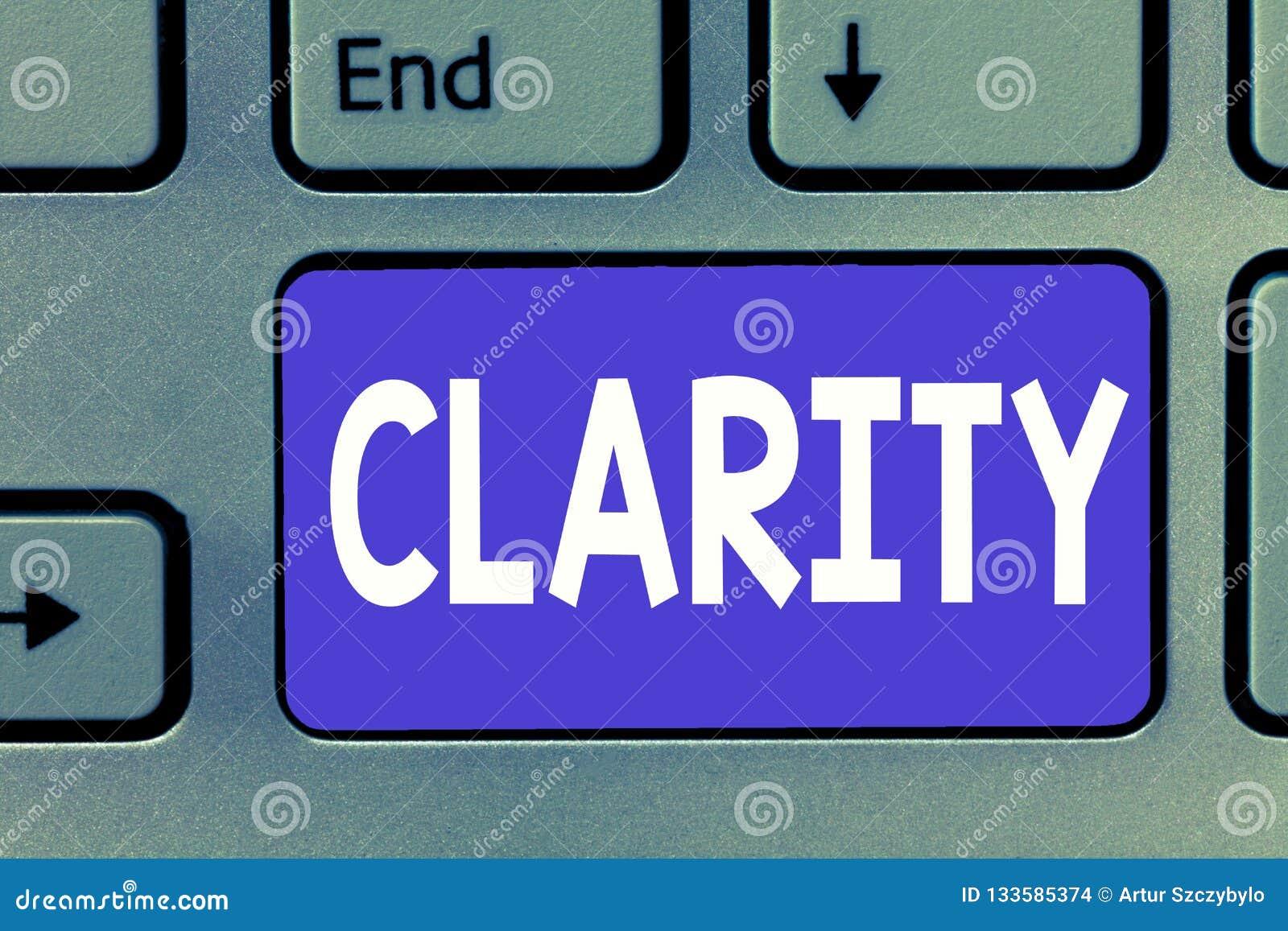 Note d écriture montrant la clarté Photo d affaires présentant étant précision claire compréhensible intelligible logique d idées
