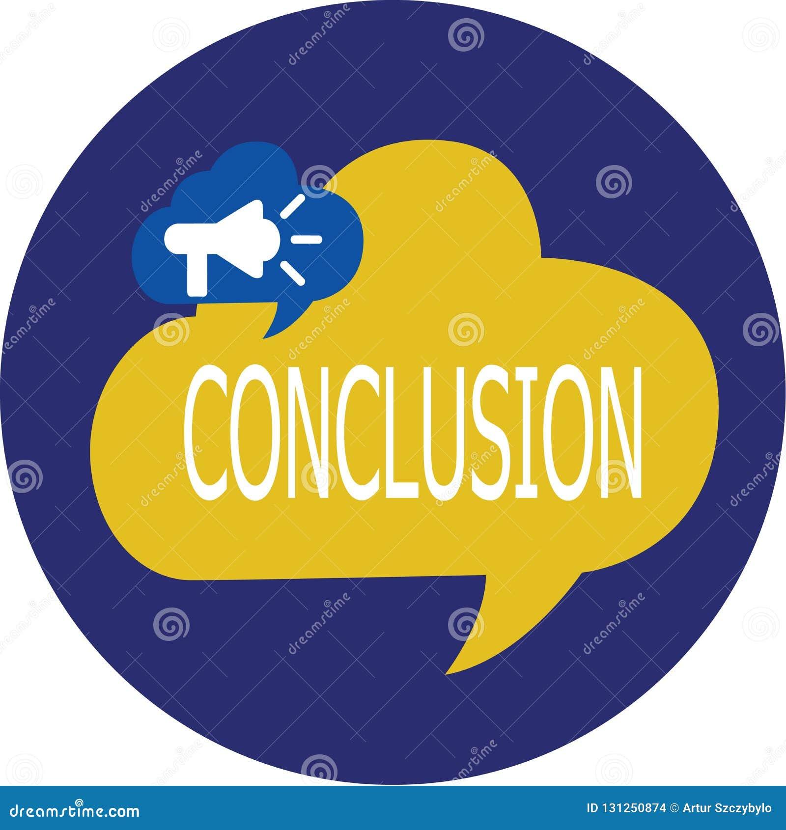 Note d écriture montrant la conclusion Fin de présentation de conclusion définitive d analyse de résultats de photo d affaires d