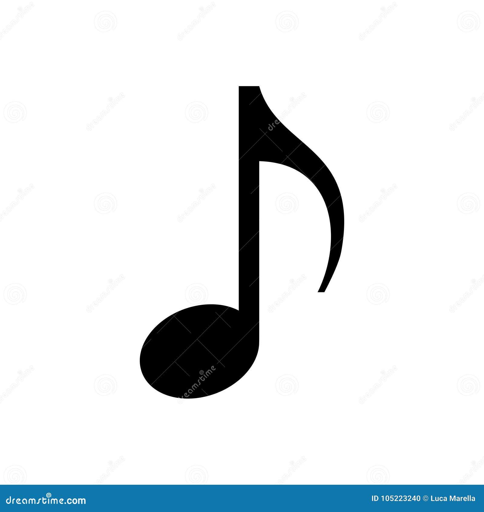 Dessin Note De Musique note de musique d'isolement - png photo stock - illustration du