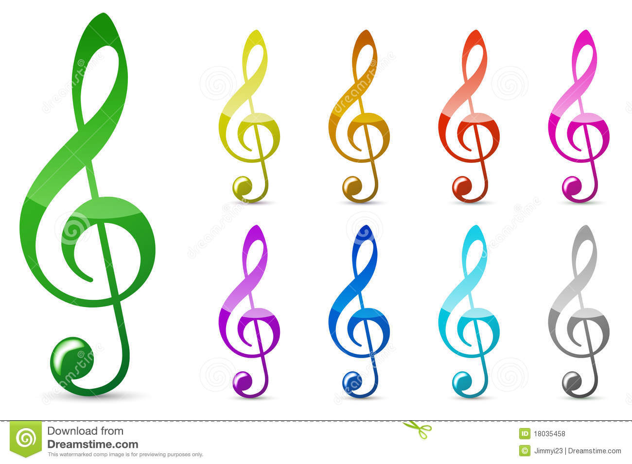 Top Note de musique de couleur illustration stock. Image du mélodies  ON84