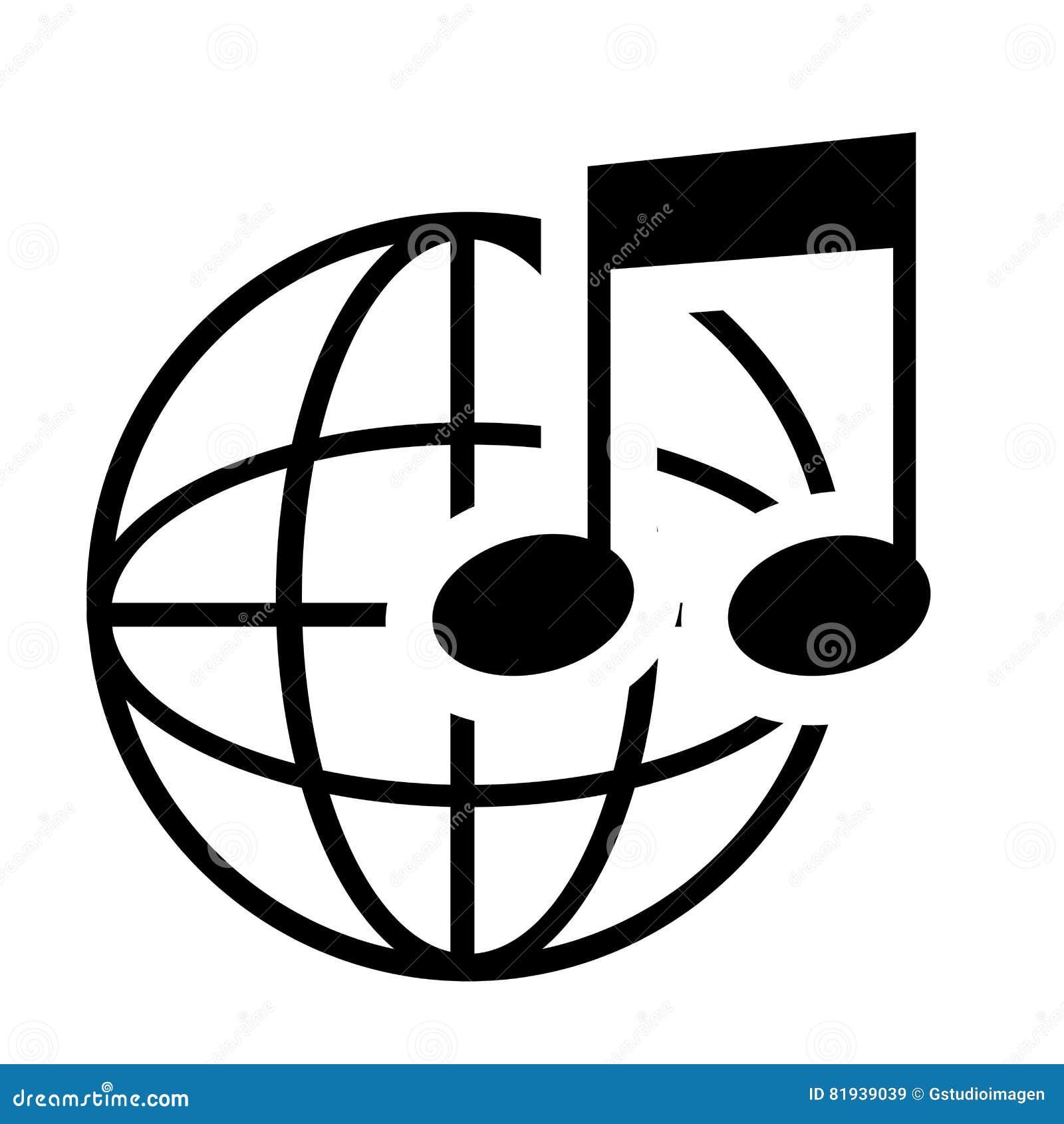 Note De Musique En Noir Et Blanc Illustration De Vecteur