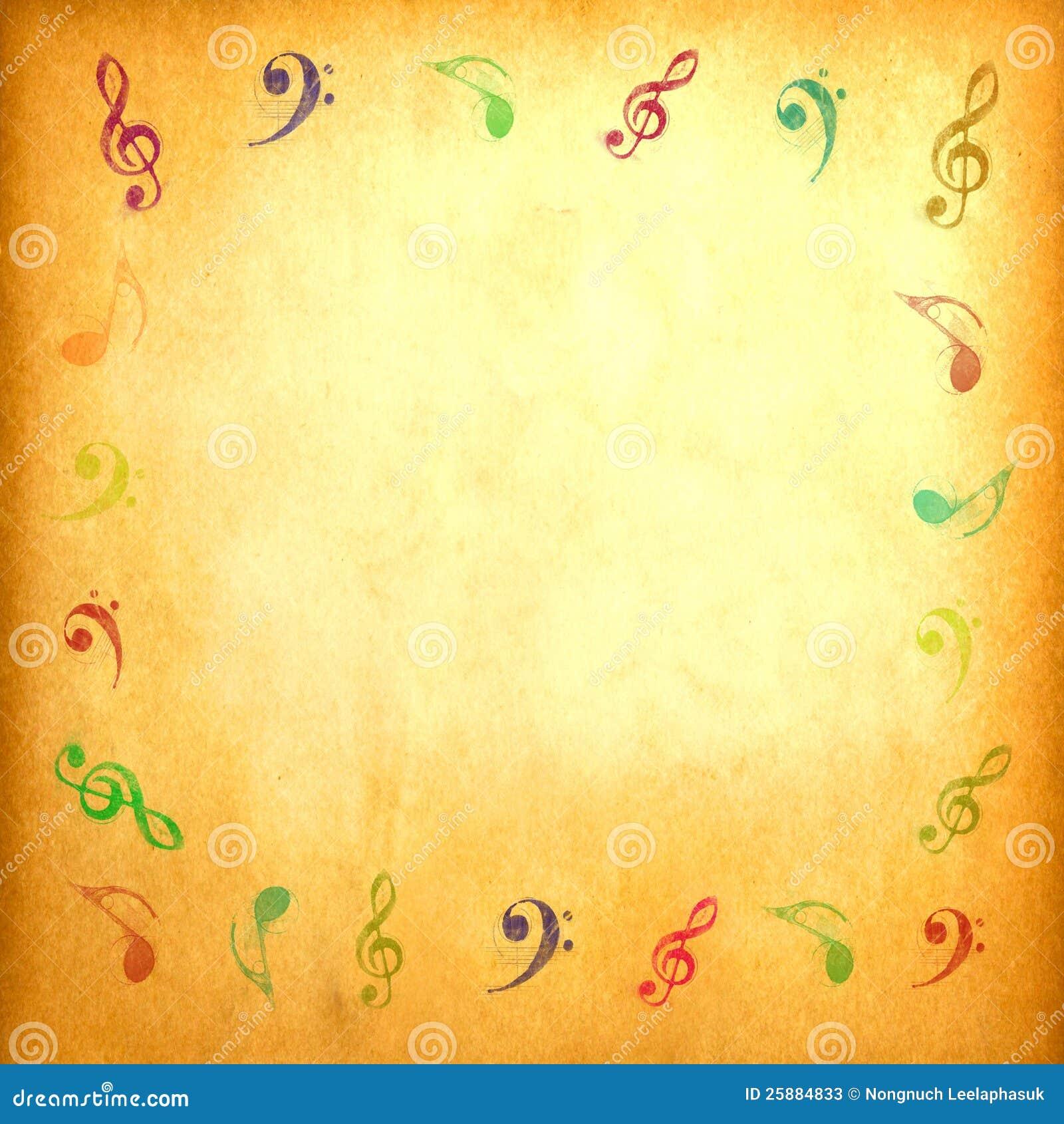 Note de musique sur le papier de cru