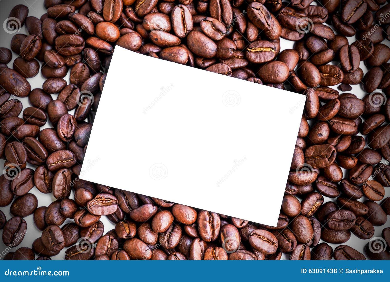Download Note De Papier Blanc Sur Les Grains De Café Rôtis Photo stock - Image du notes, boisson: 63091438