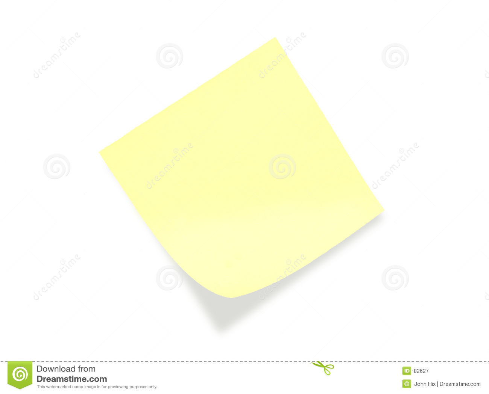 Note de post-it jaune