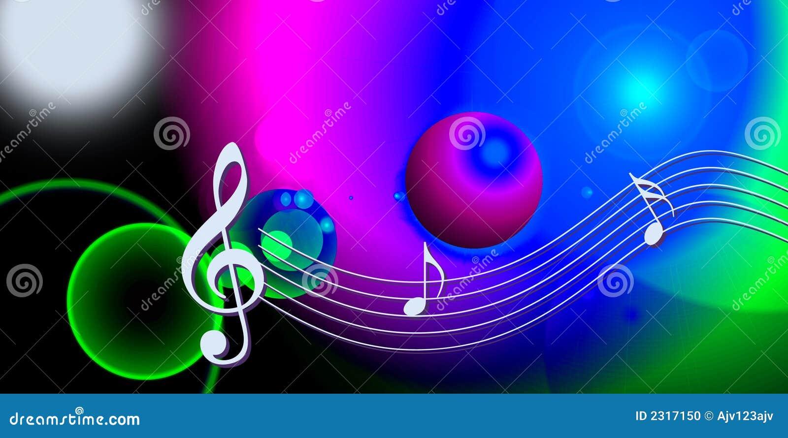 ... note musicali sopra la parte superiore, mondo di musica del Internet