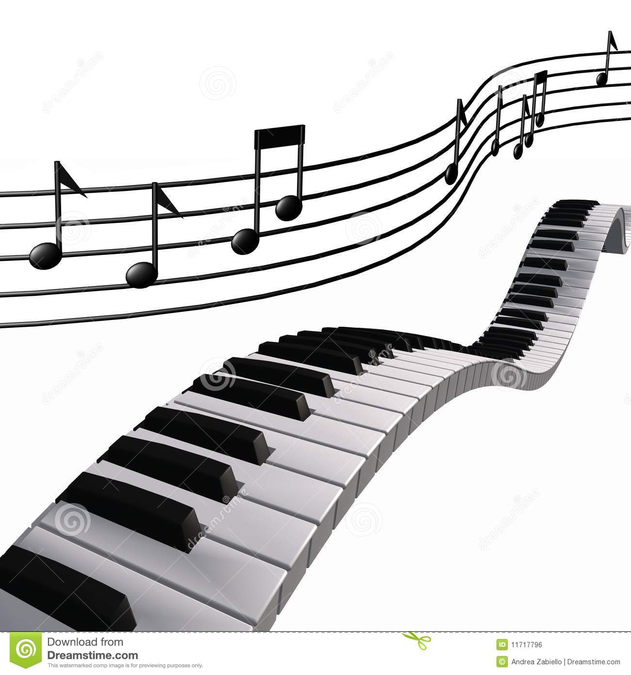 Note del piano di musica nel cielo illustrazione di stock for Pianificatore di piano