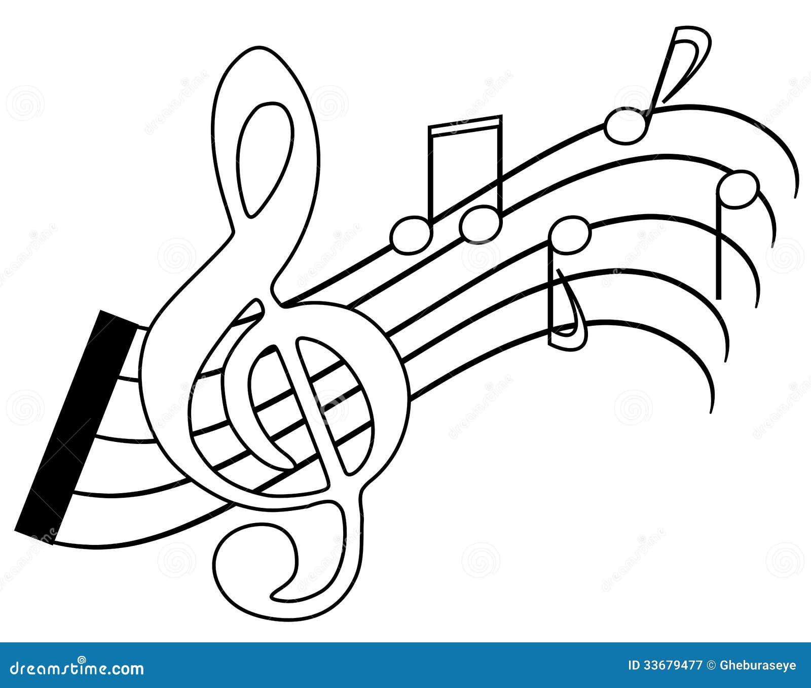 Note di coloritura illustrazione di stock illustrazione - Note musicali da colorare pagina da colorare ...