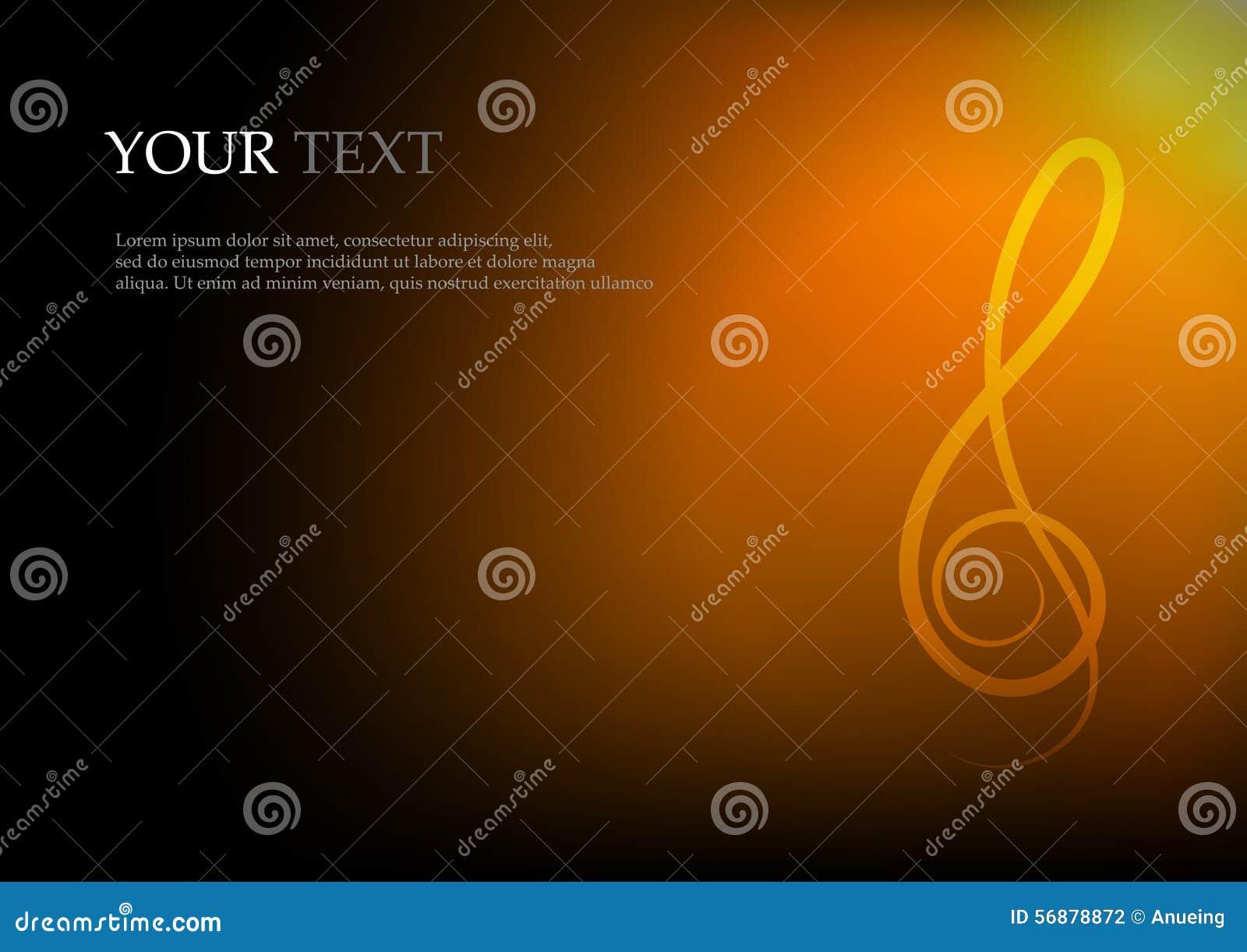 Note e spazio di musica per il fondo del testo