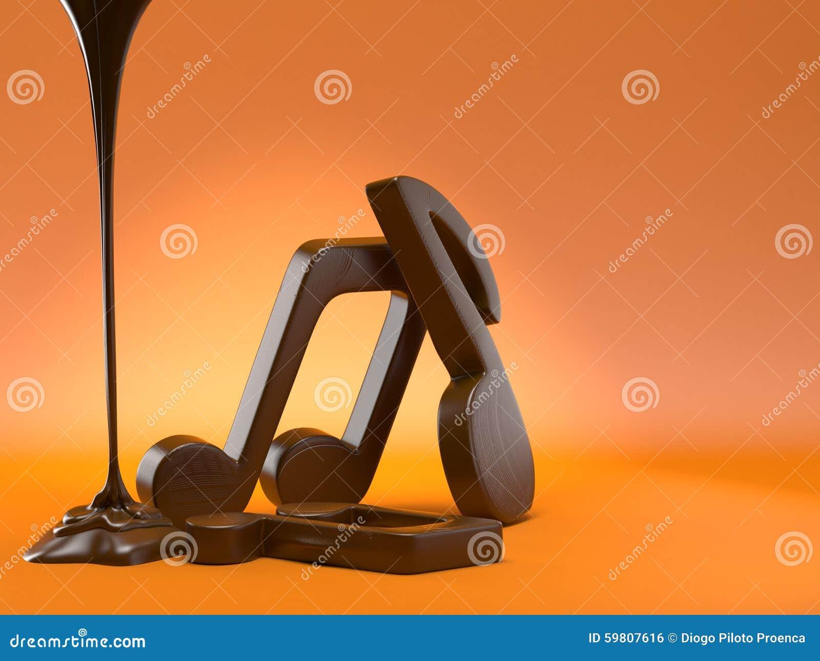 Note musicali di cioccolato