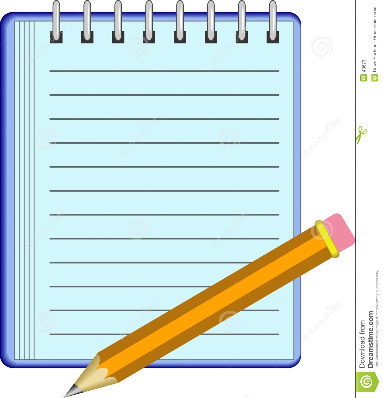 Download Note Pad stock vector. Illustration of graphics, objects - 48673