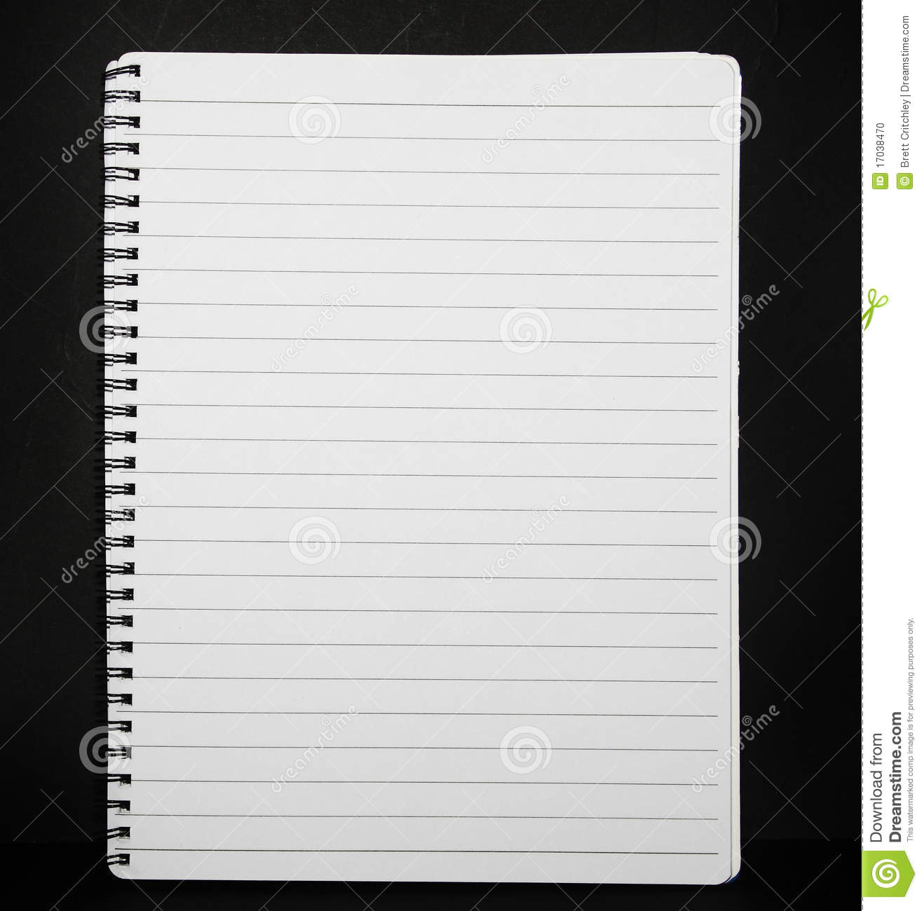 Note pad lined paper stock photo. Image of list, book ...