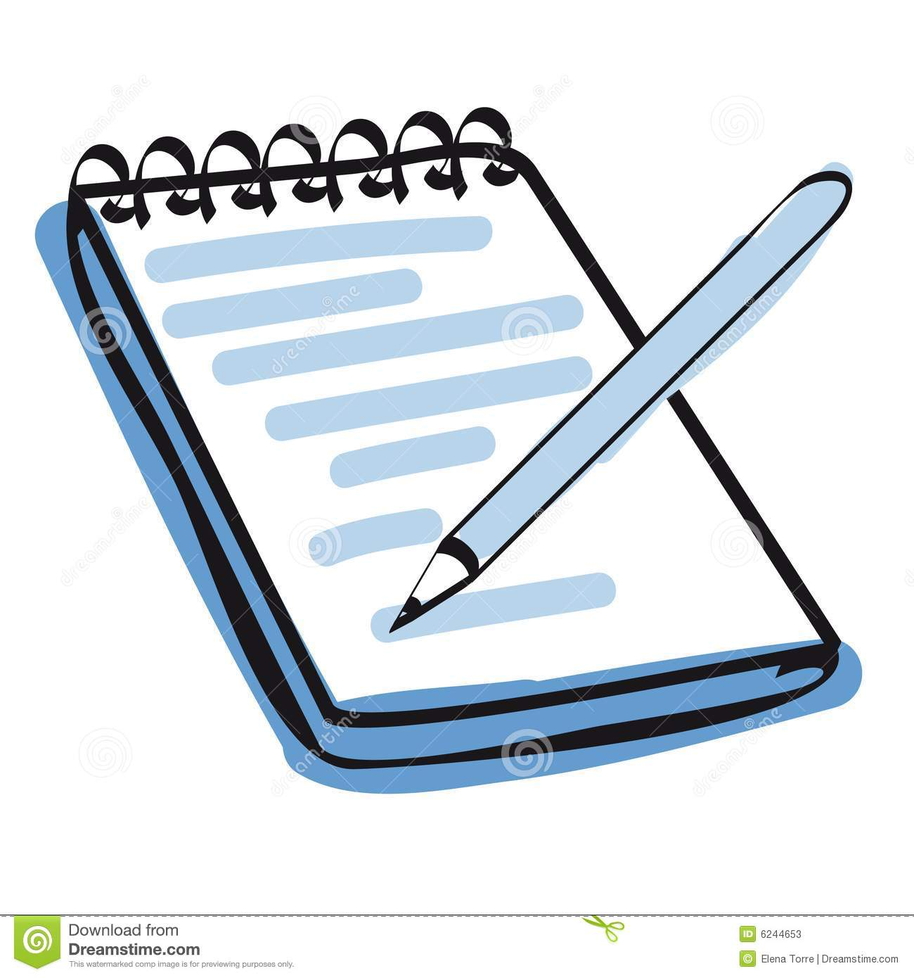 Note Pad And Pencil Icon Vector Stock Photos Image 6244653