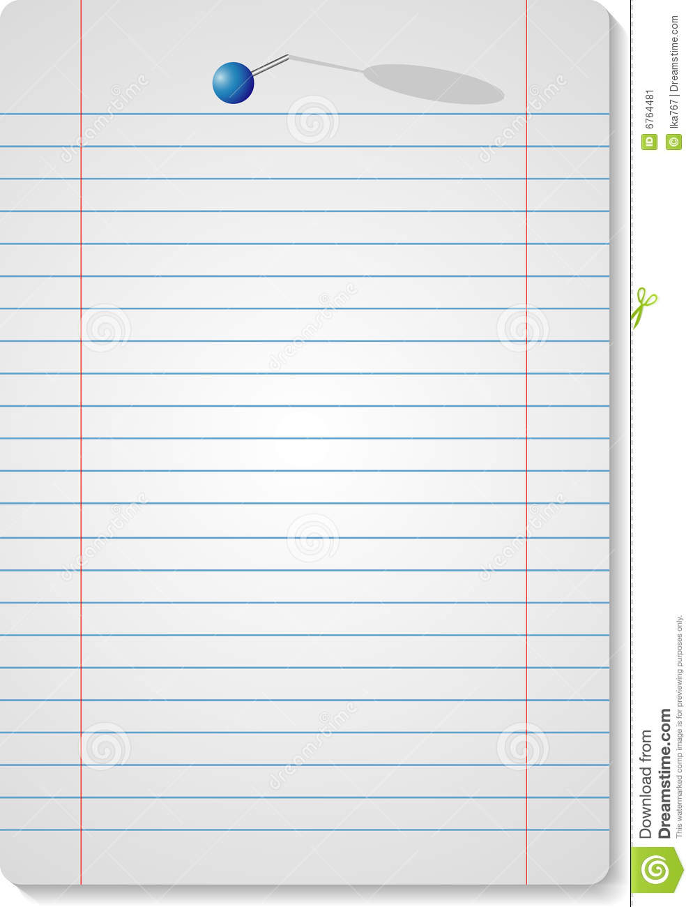 Note Paper And 1 Pin Stock Image Image 6764481