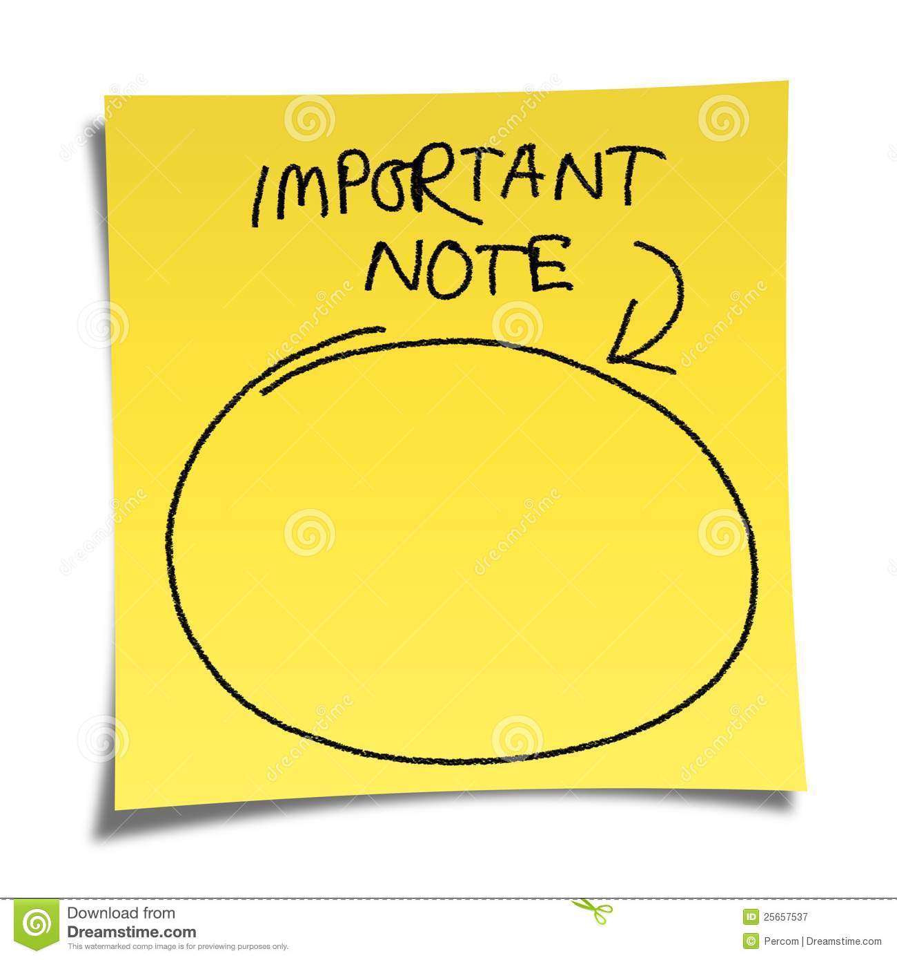 "... note paper on white background with message ""important note"