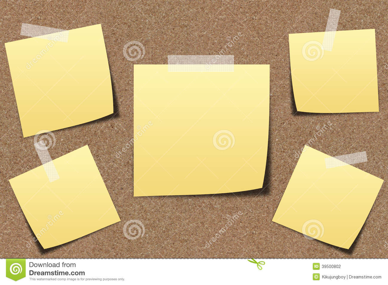 Note paper on sand board