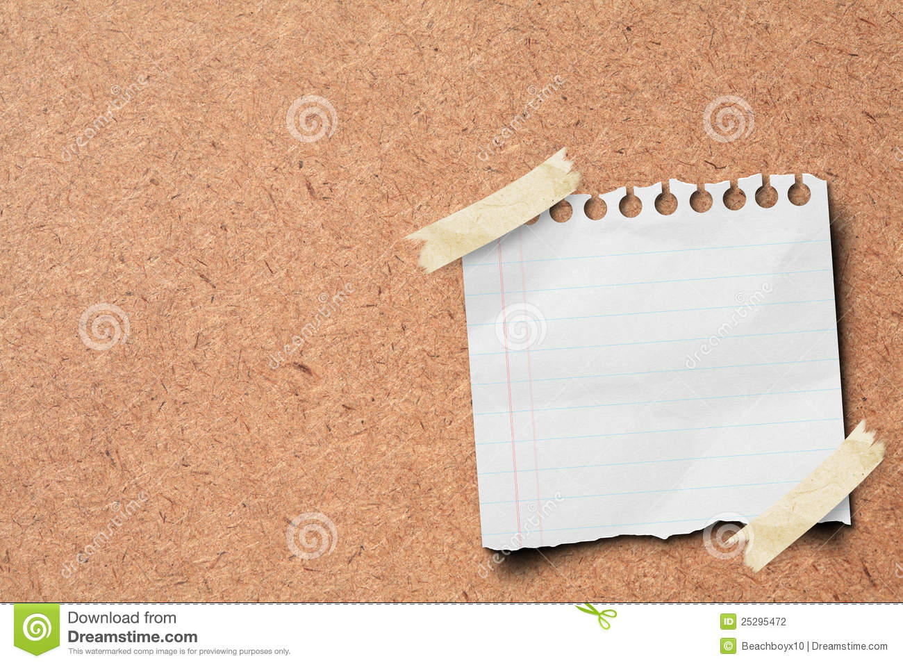 Note Paper Stick On Wooden Board Stock Photography
