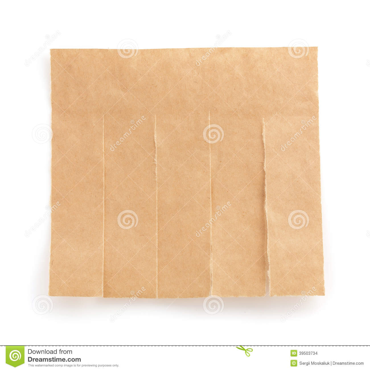 Note paper on white