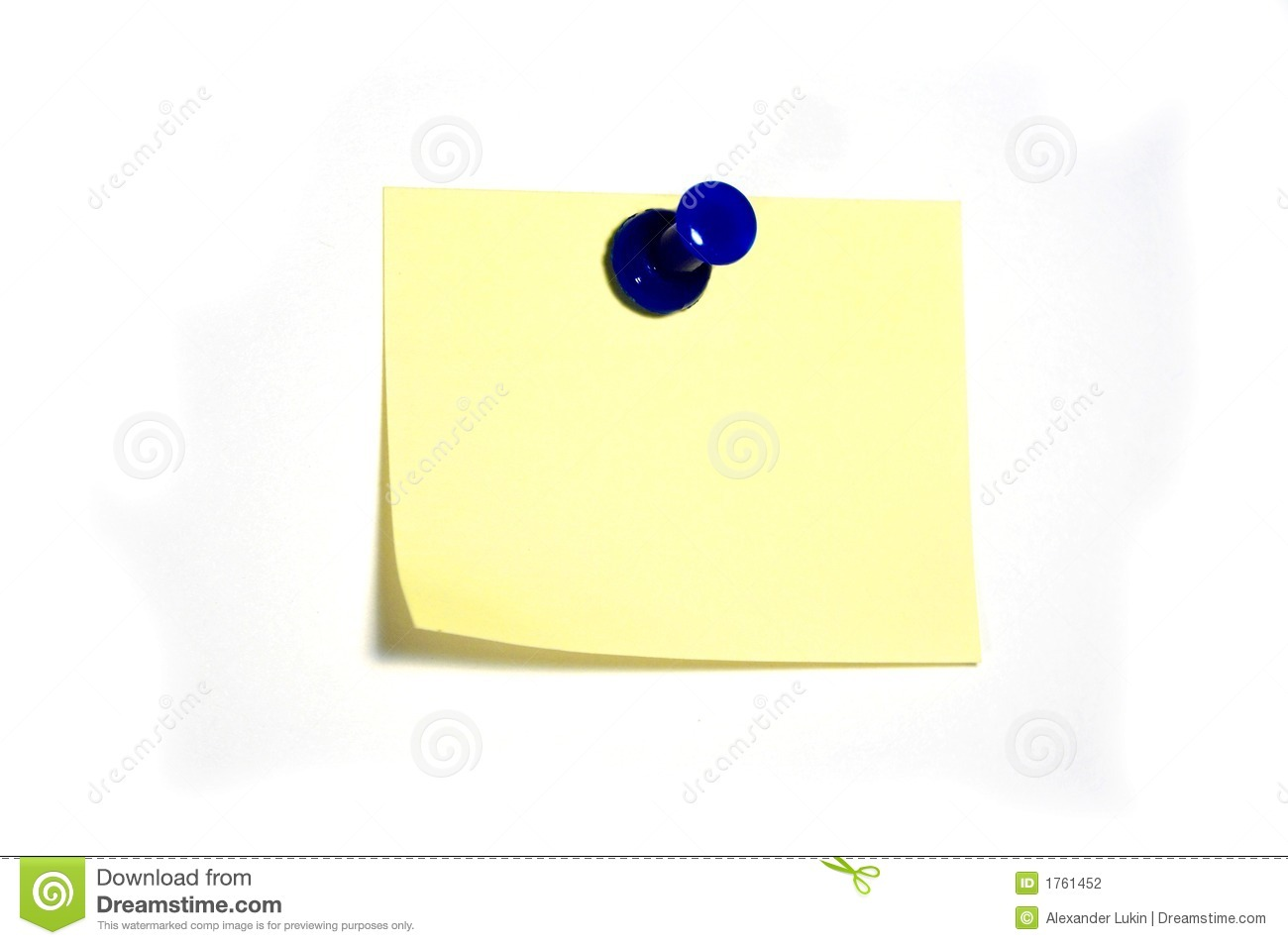 Note With Thumbtack Stock Photography - Image: 1761452